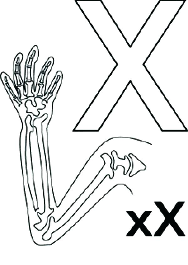 600x845 Letter X Coloring Page Big