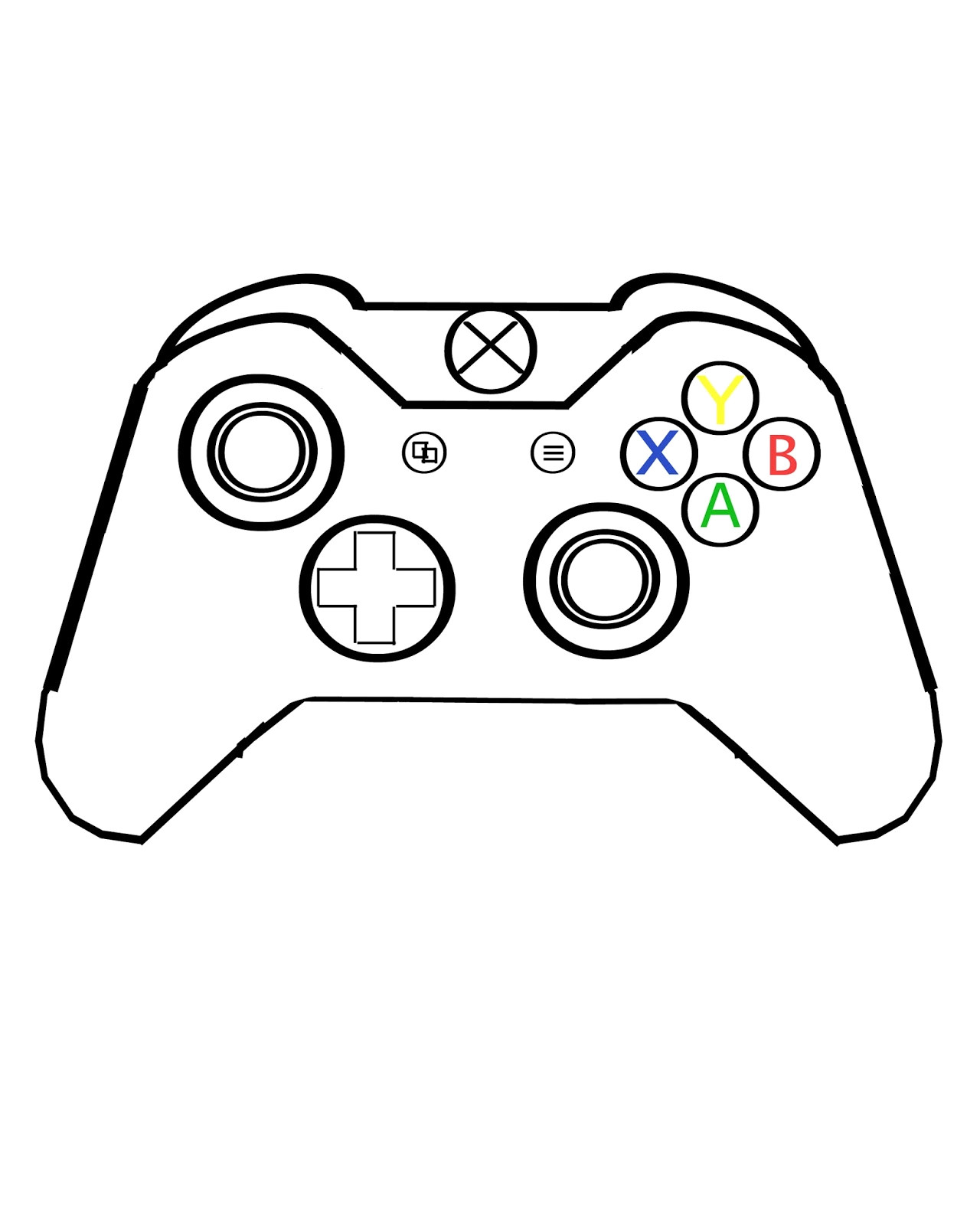 1280x1600 Xbox 1 Controller Wireless Lovely Game Controller Drawing
