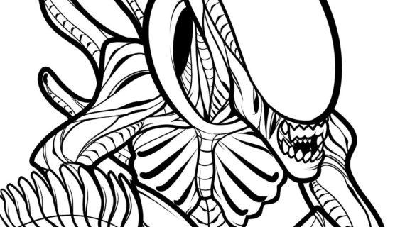 570x320 Alien Vs Predator Drawing Draw An Alien From Alien Vs Predator