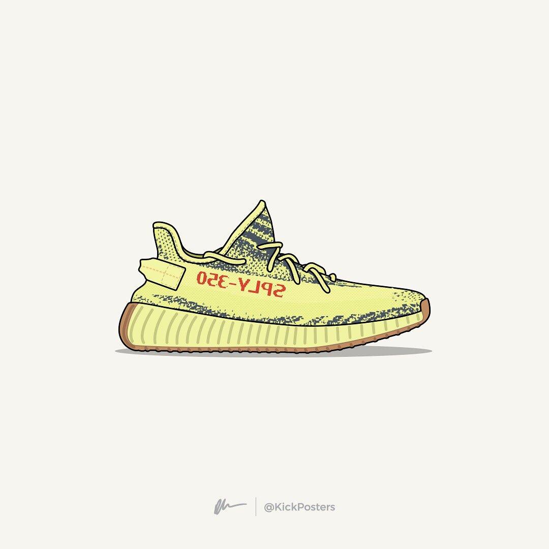 [ART] Yeezy Boost 700 Vector Art : Sneakers  Yeezy Drawing
