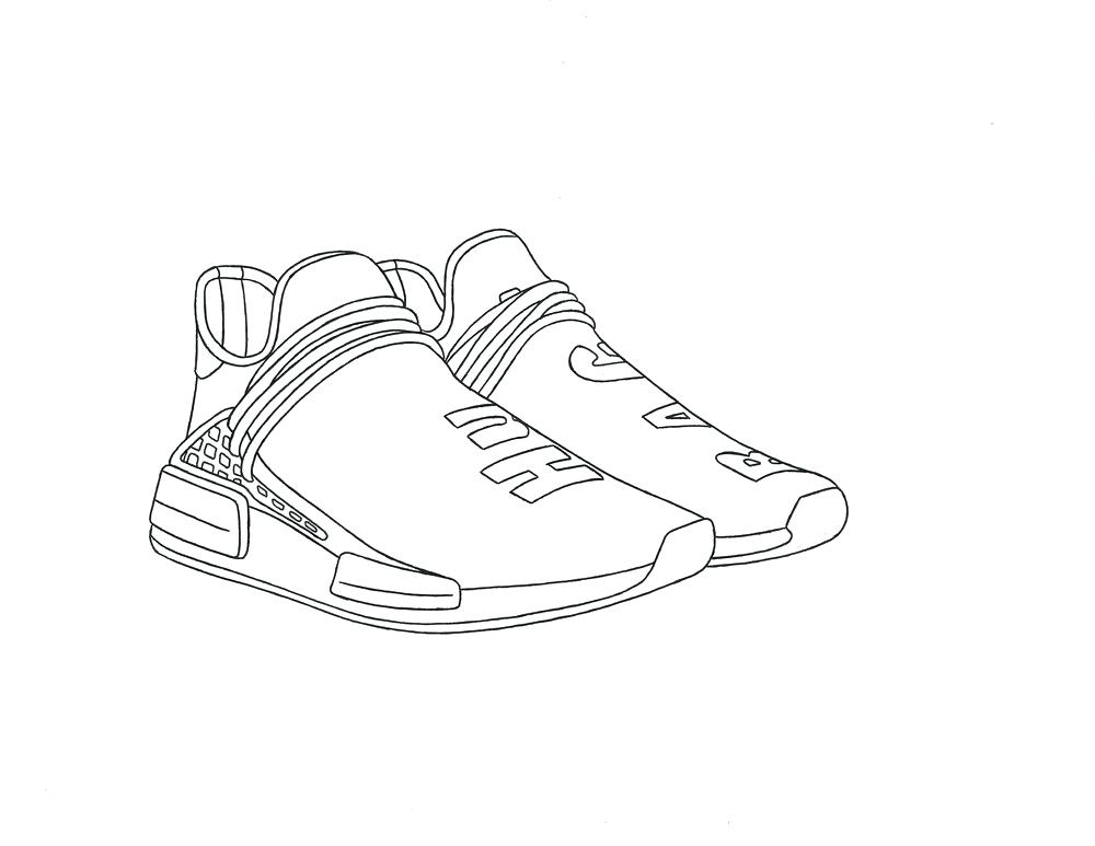 1000x773 Idea Yeezy Coloring Book And Side View 34 Yeezy Colouring Book