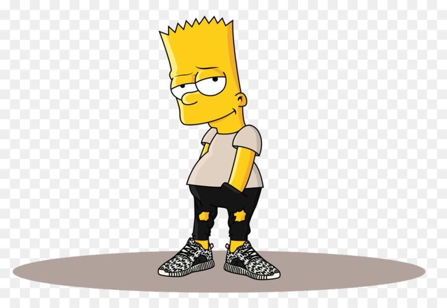 900x620 Bart Simpson Homer Simpson Adidas Yeezy Drawing