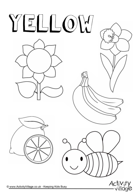 460x650 Yellow Things Colouring Page