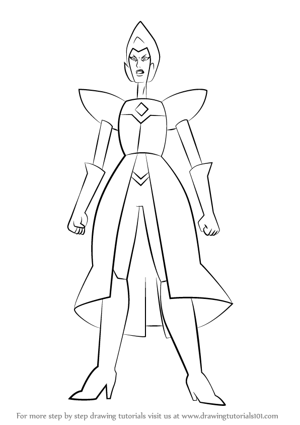 596x843 How To Draw Yellow Diamond Full Body From Steven Universe Step 0
