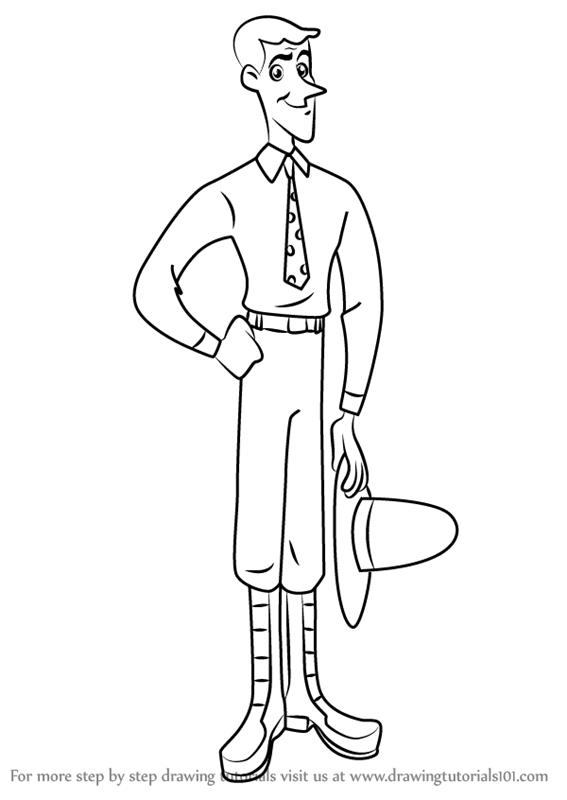 567x800 Learn How To Draw The Man With The Yellow Hat From Curious George
