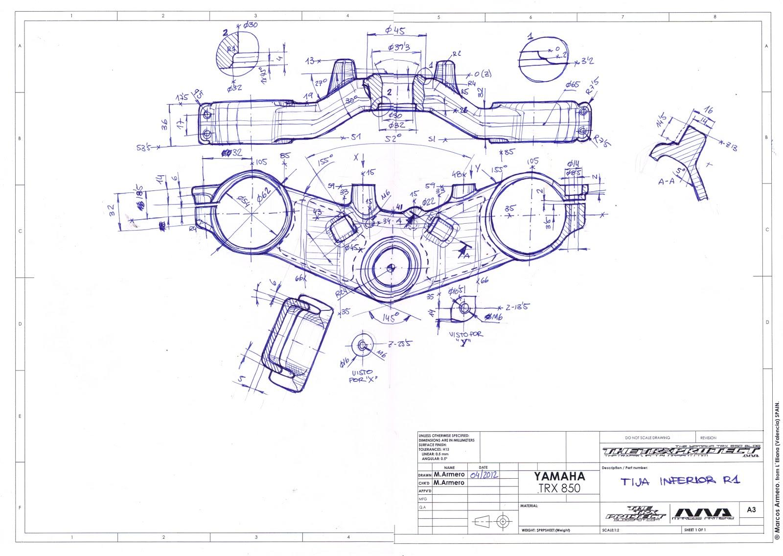 1600x1136 The Trx Project. The Yamaha Trx 850 Blog 3d Yamaha R1 (Rn04