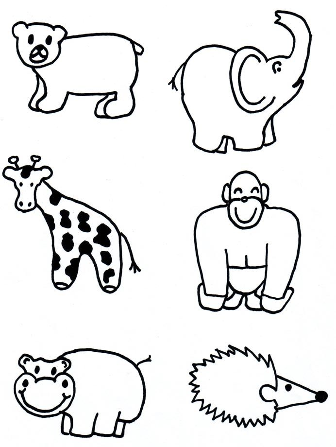 692x920 Gallery How To Draw Zoo Animals For Kids,