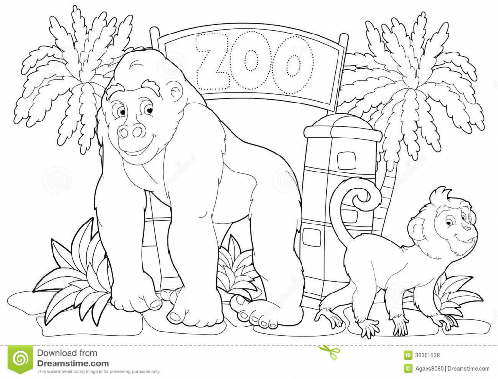 1024x780 How To Draw A Zoo Scene Zoo Drawing For Children Zoo Cartoon