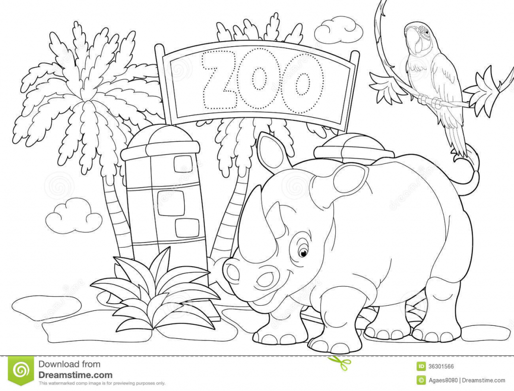 1024x780 Collection Of Zoo Drawing Sketch High Quality, Free Cliparts