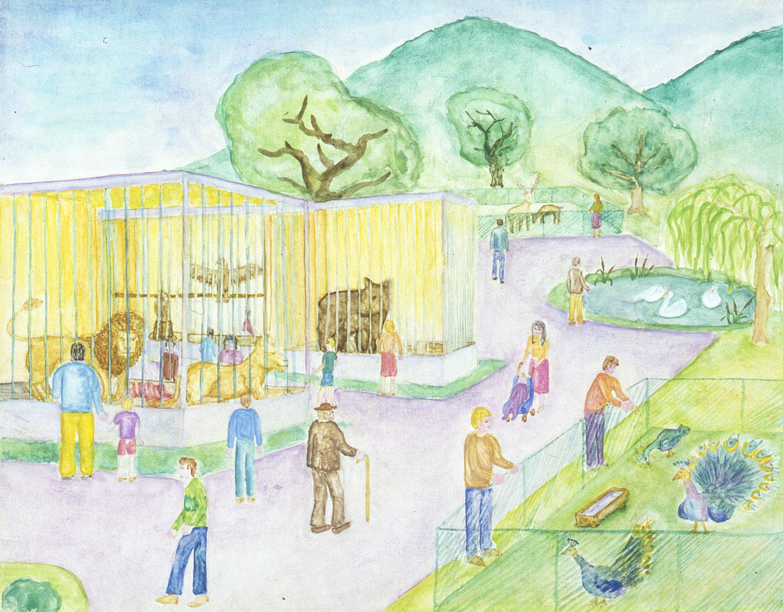1500x1171 At The Zoo Pbd Children's Art Museum