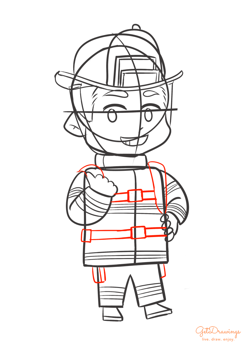 How to draw a Firefighter?