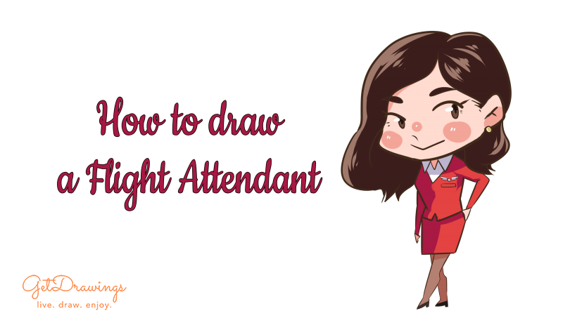 How to draw a Flight Attendant?