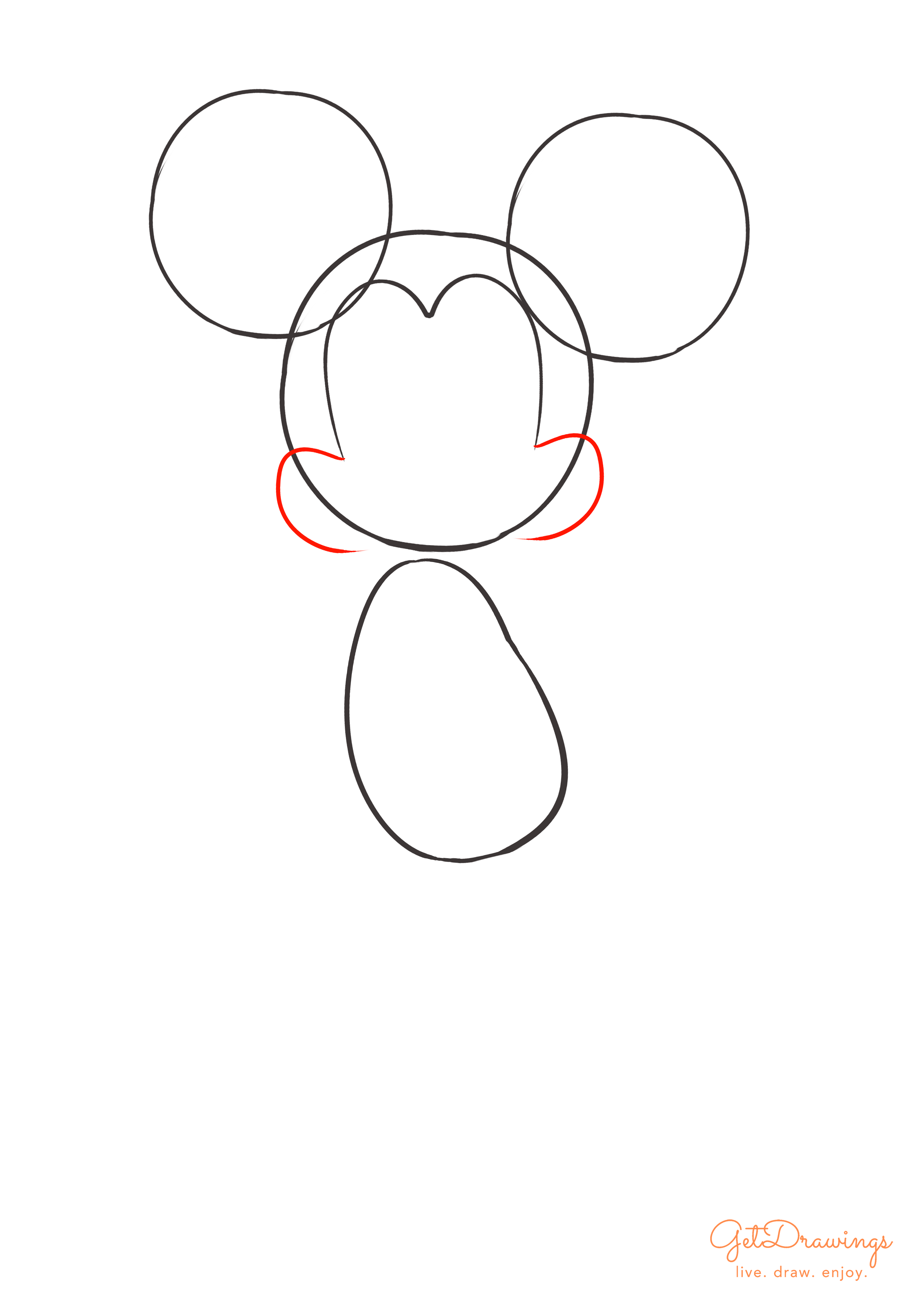 How to draw a Mickey Mouse?