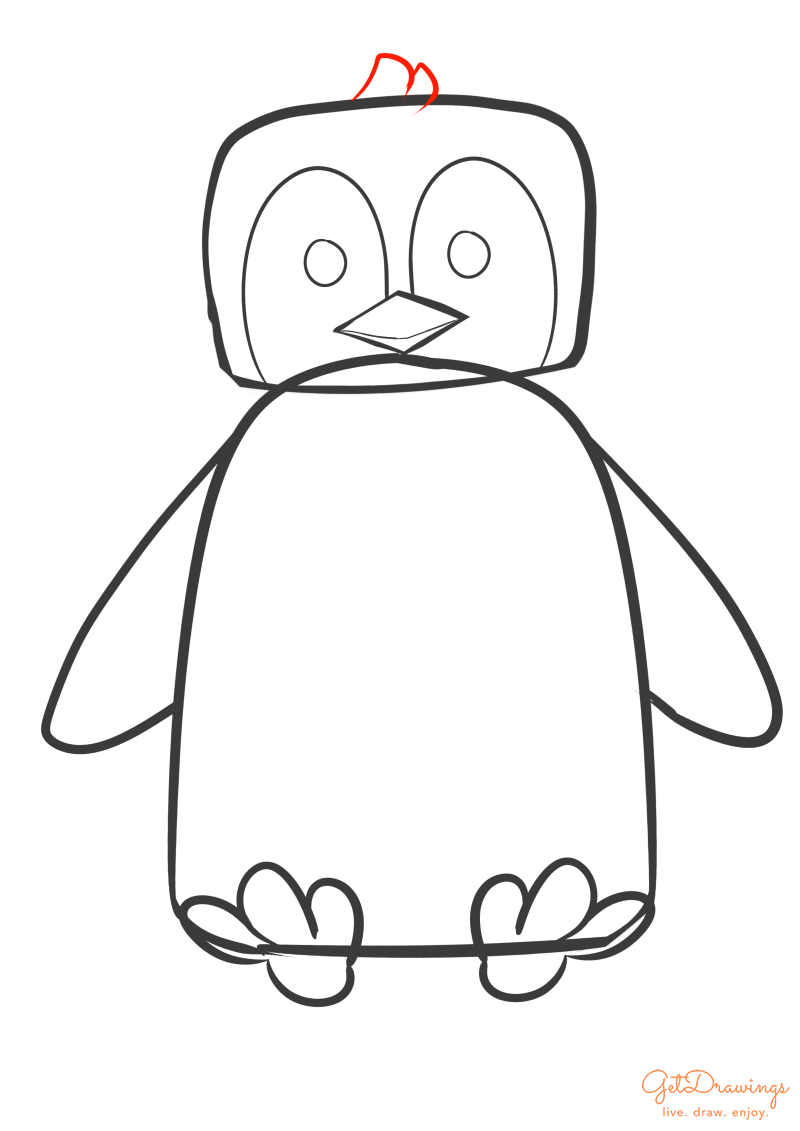 How to draw a Penguin?