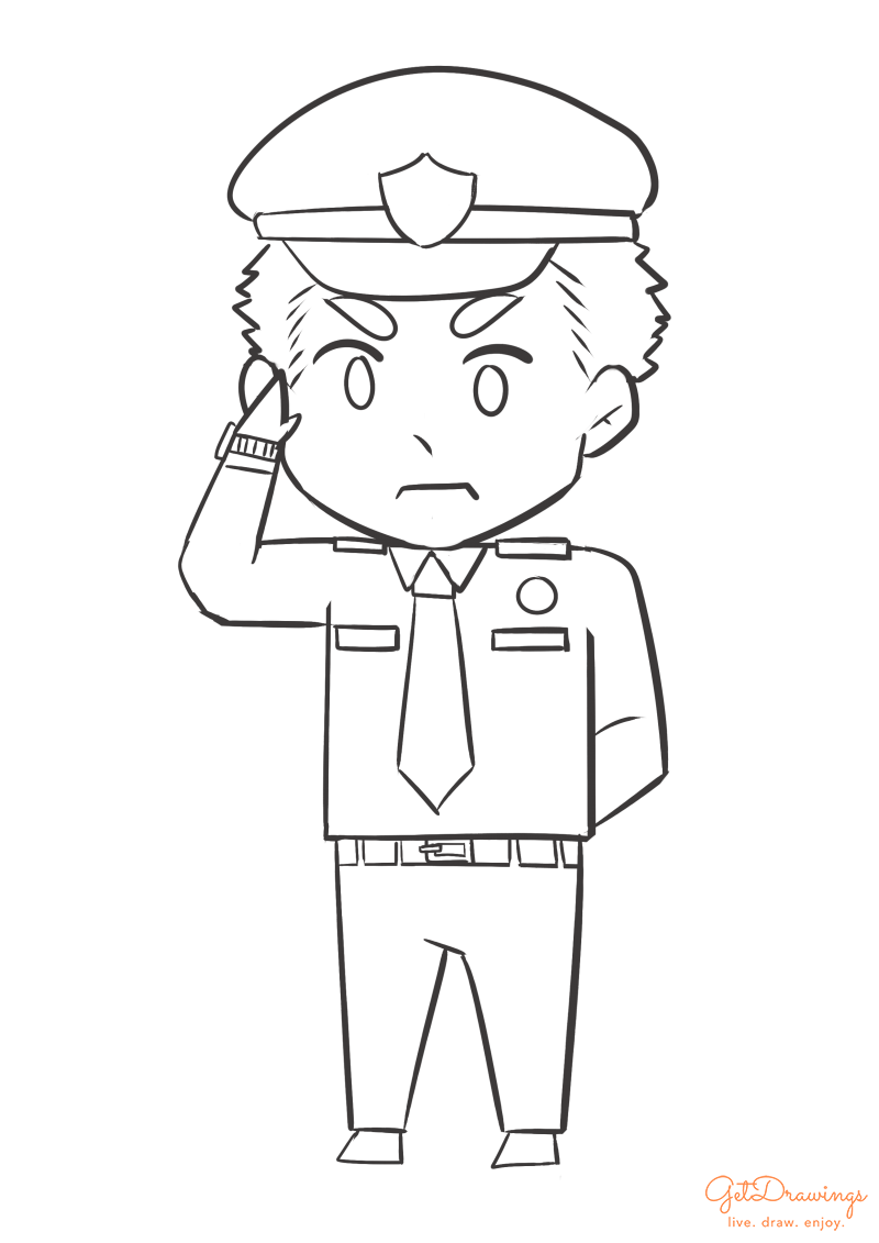 How to draw a Policeman?