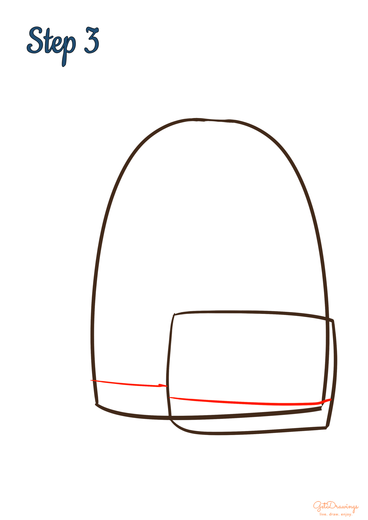 How to draw a School Bag