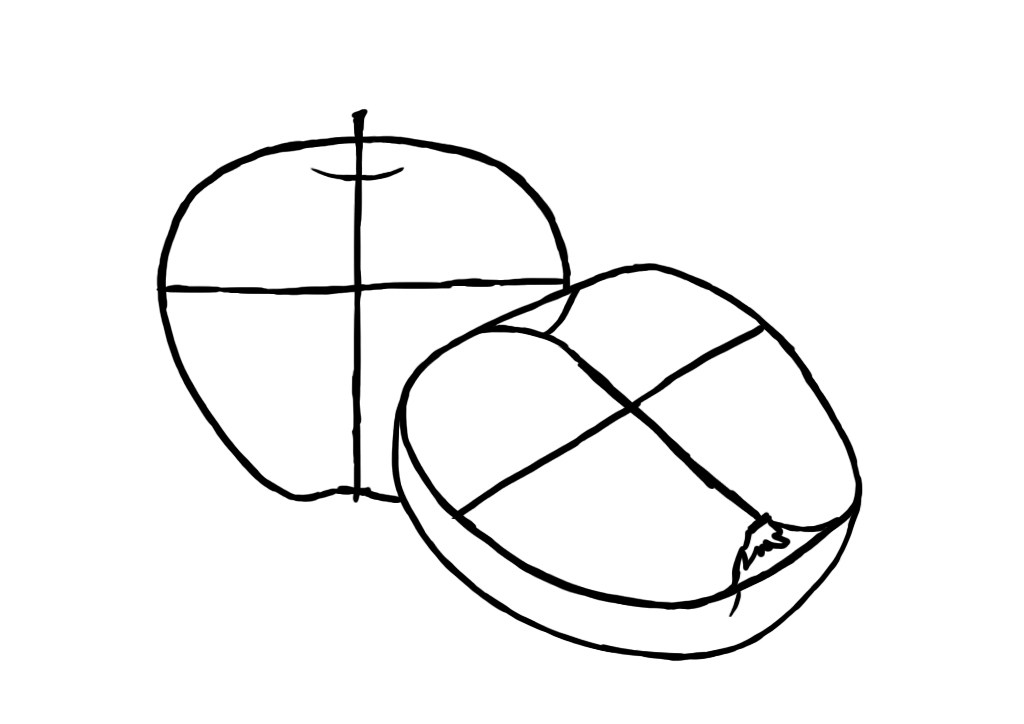 How to draw an Apple on a graphic tablet?