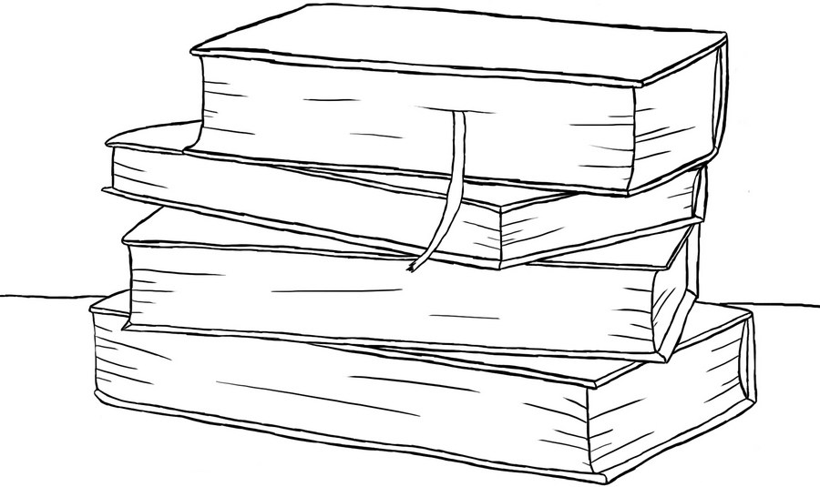 How to draw Books on a graphic tablet?