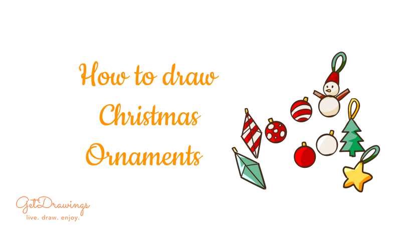 How to draw Christmas Ornaments