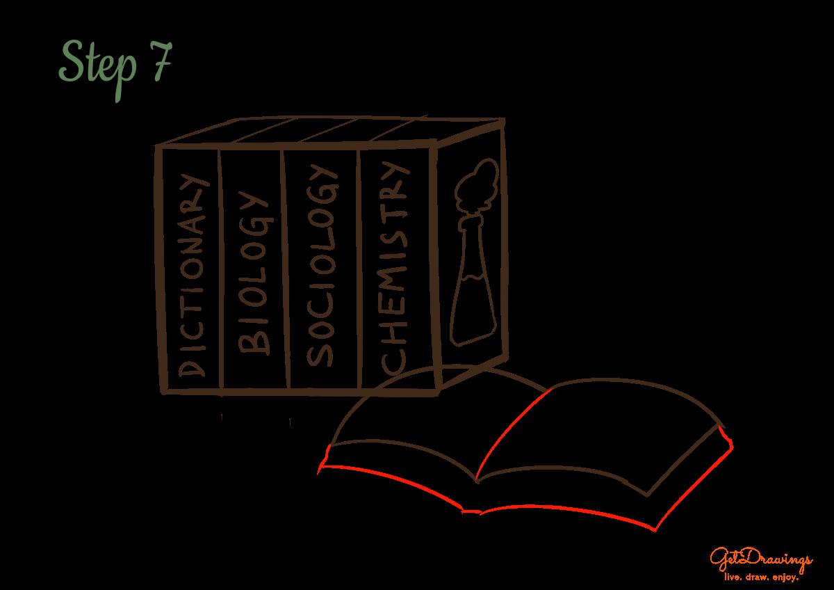 How to draw School Books