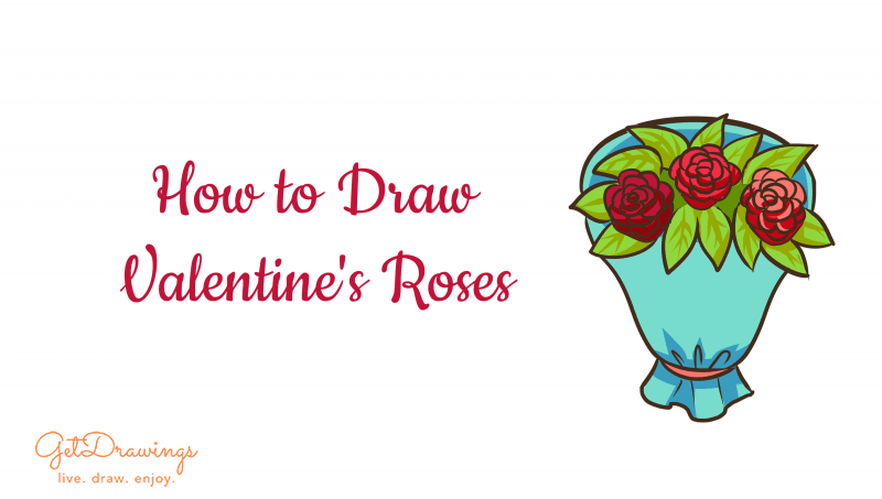 How to Draw Valentine's Roses