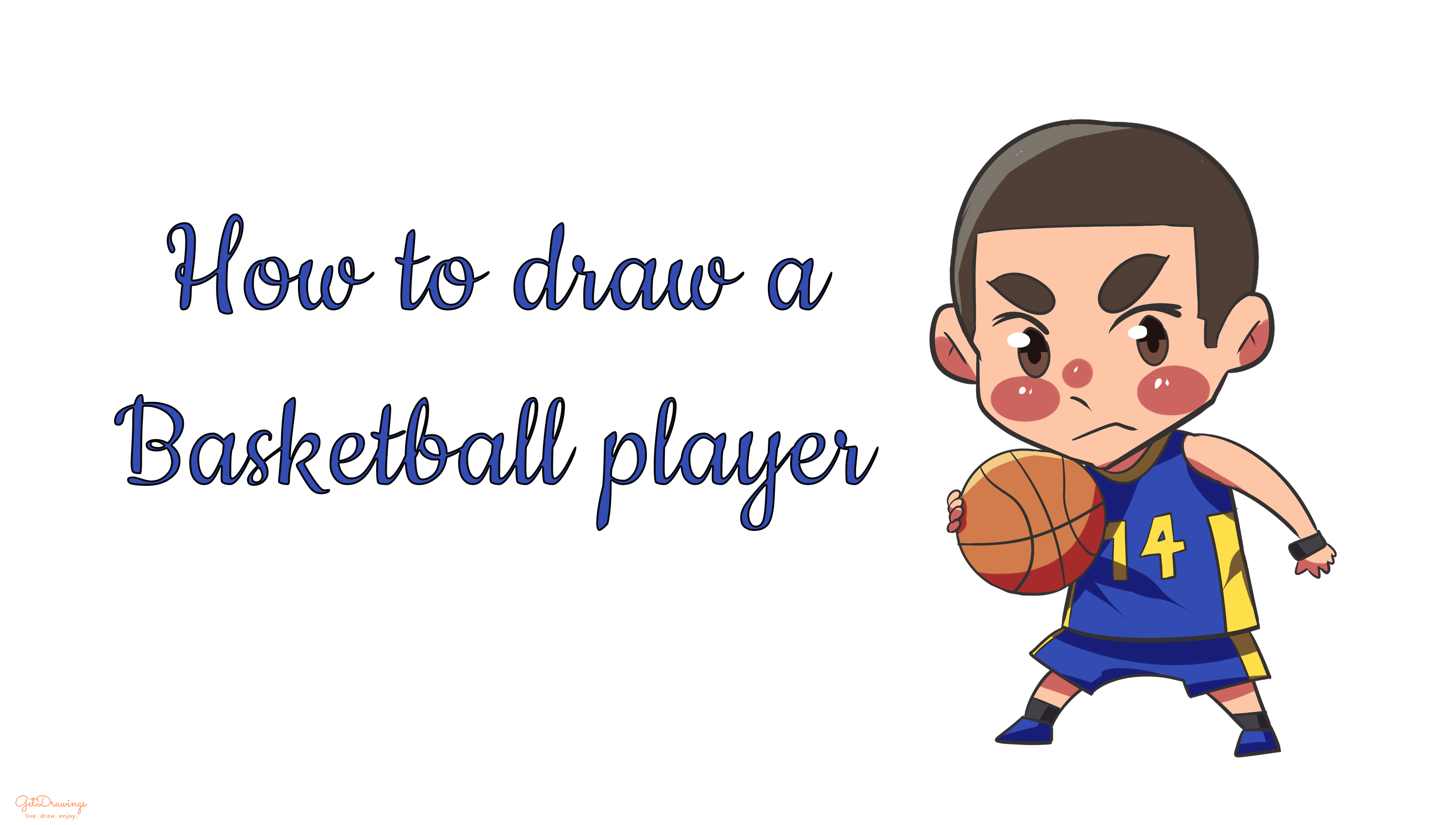 How to draw a Basketball Player?
