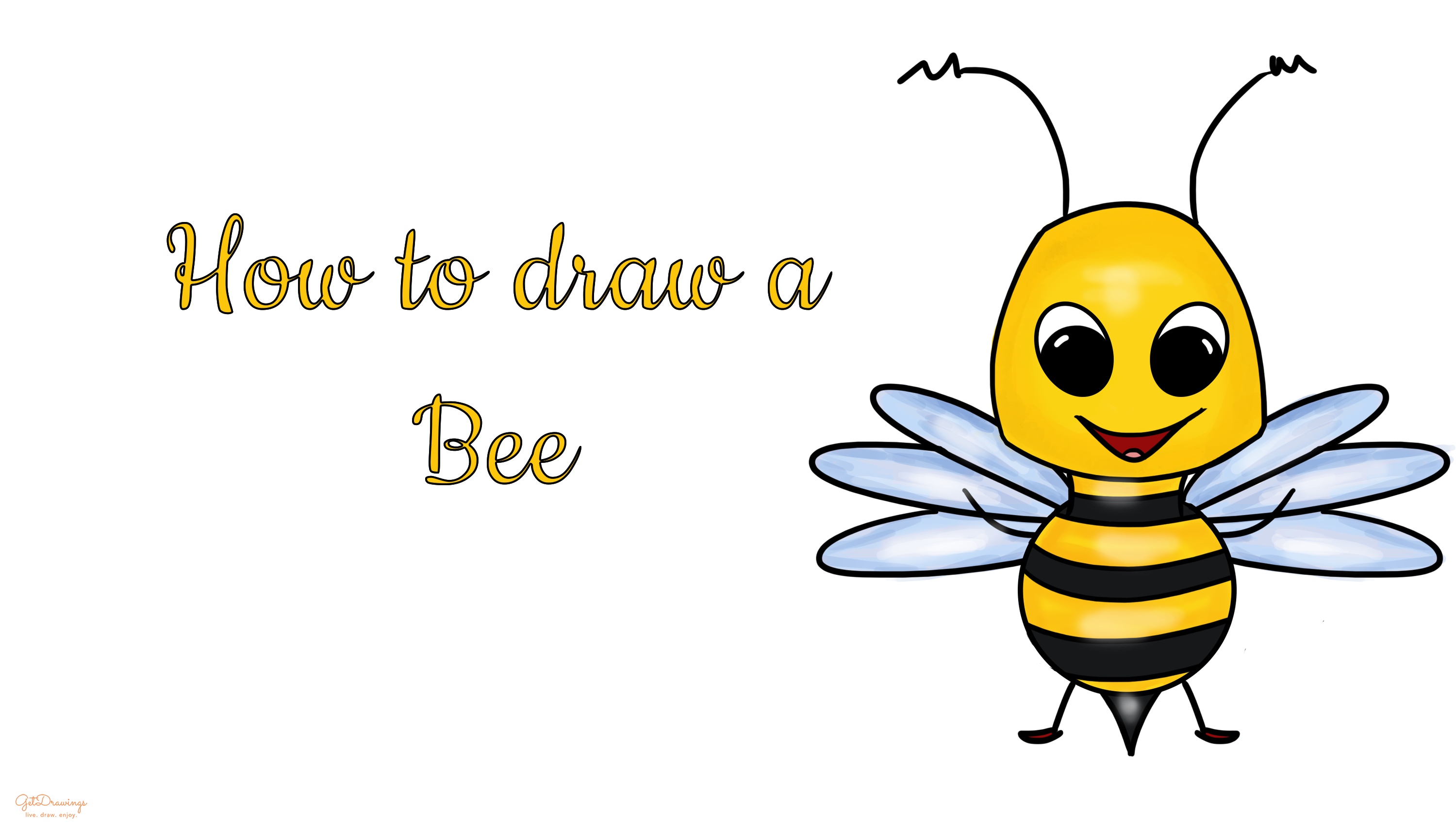 How to draw a Bee?