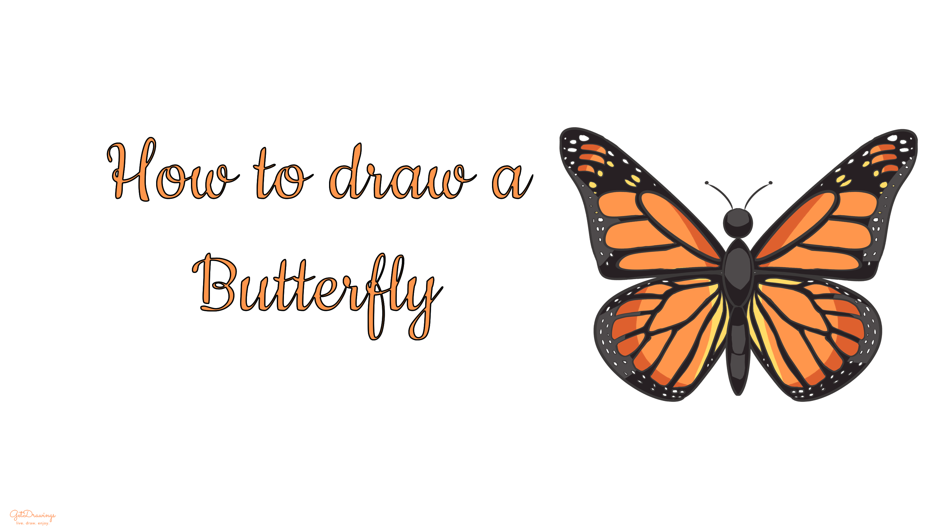 How to draw a Butterfly?