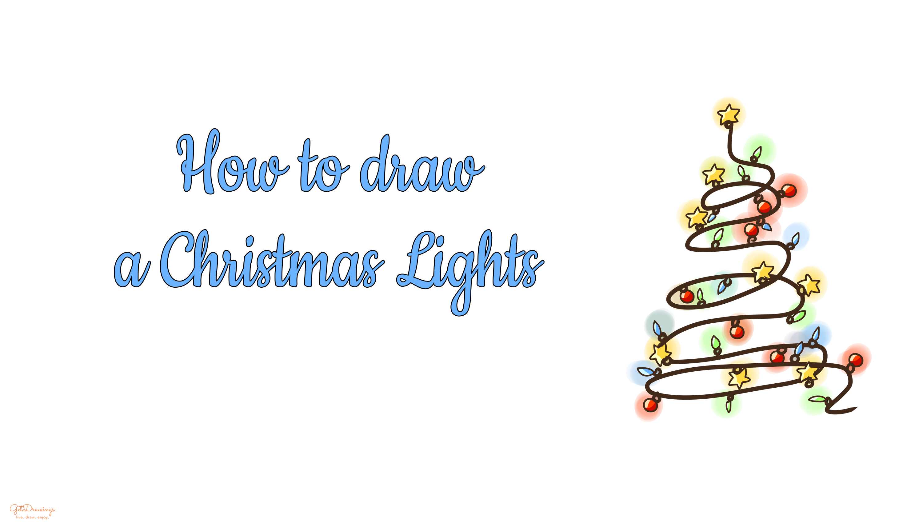 How to Draw a Christmas Lights