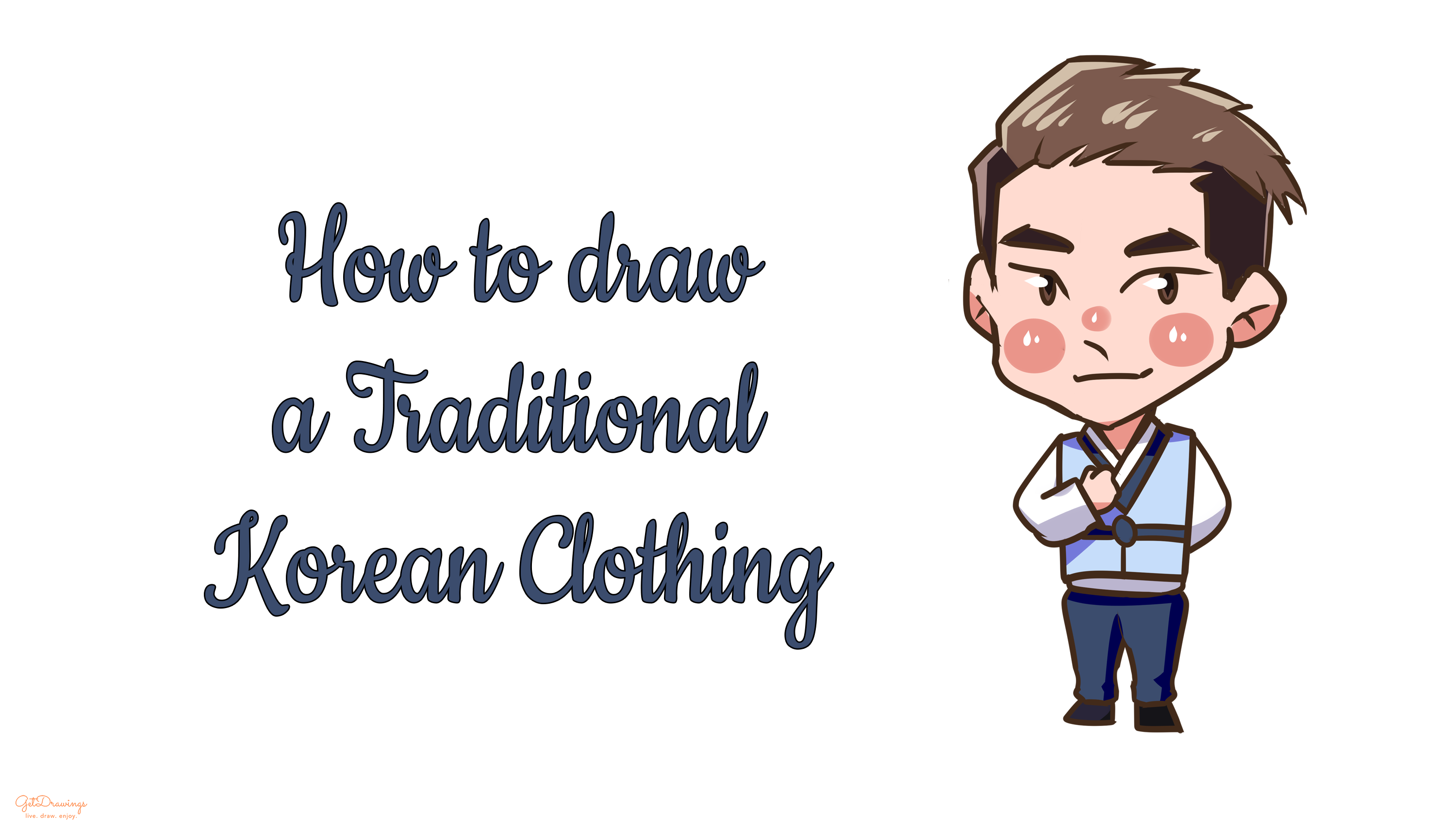 How to Draw a Traditional Korean Clothing