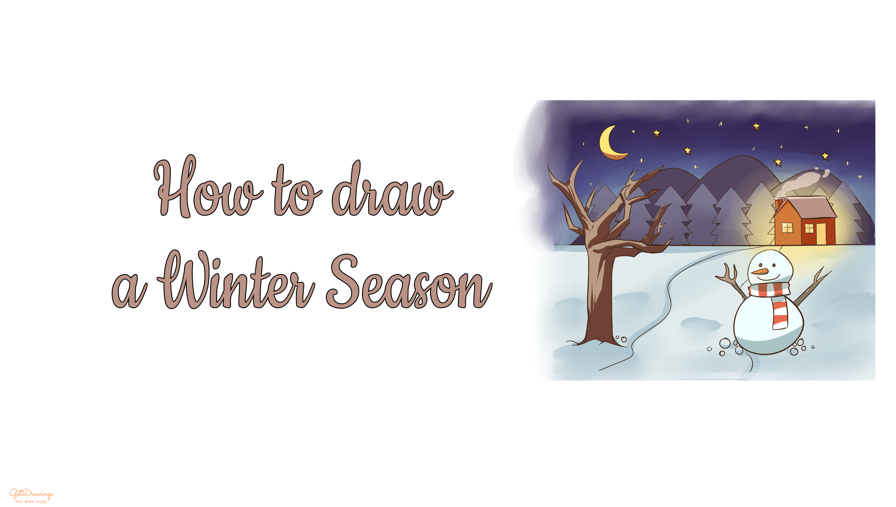 How to draw a Winter Season?