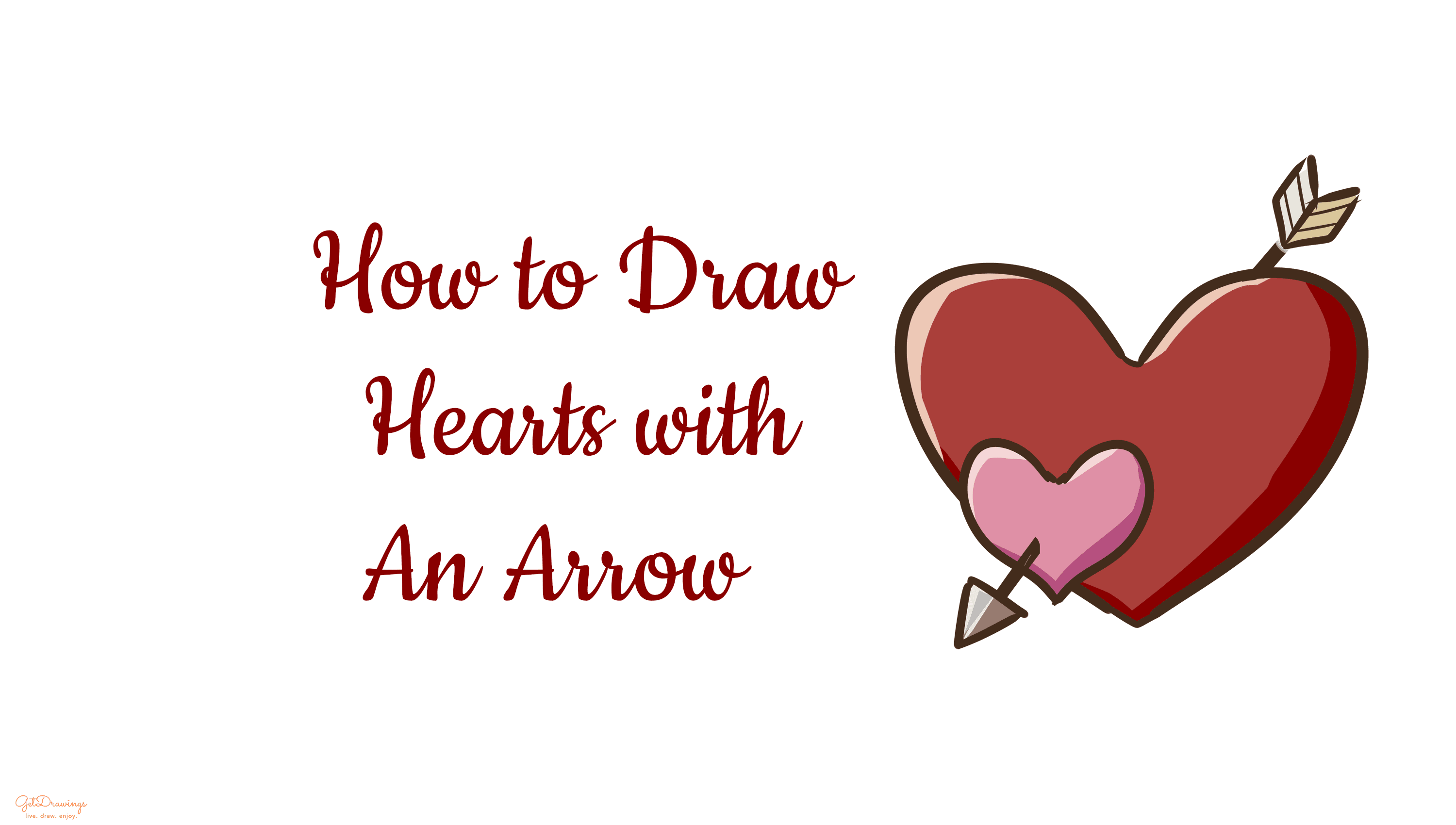 How to draw Hearts with an Arrow
