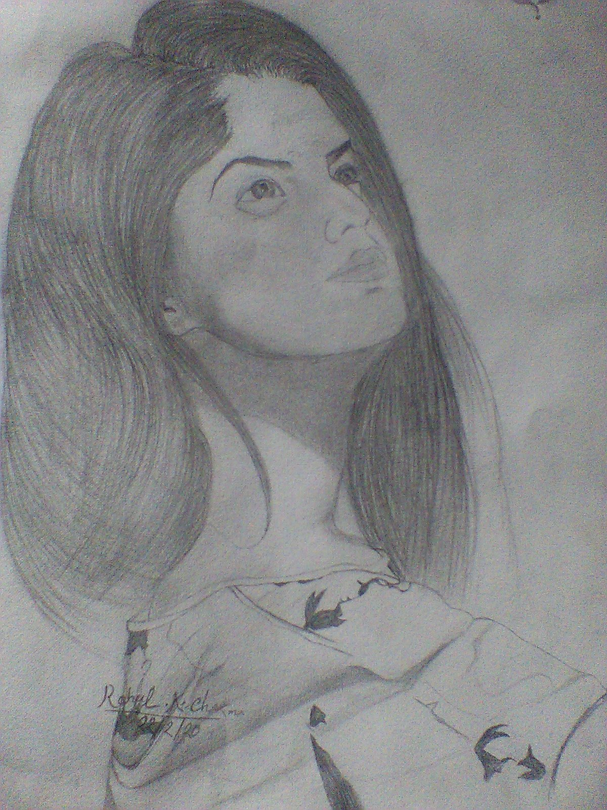 Arishfa Khan Pencil Sketch