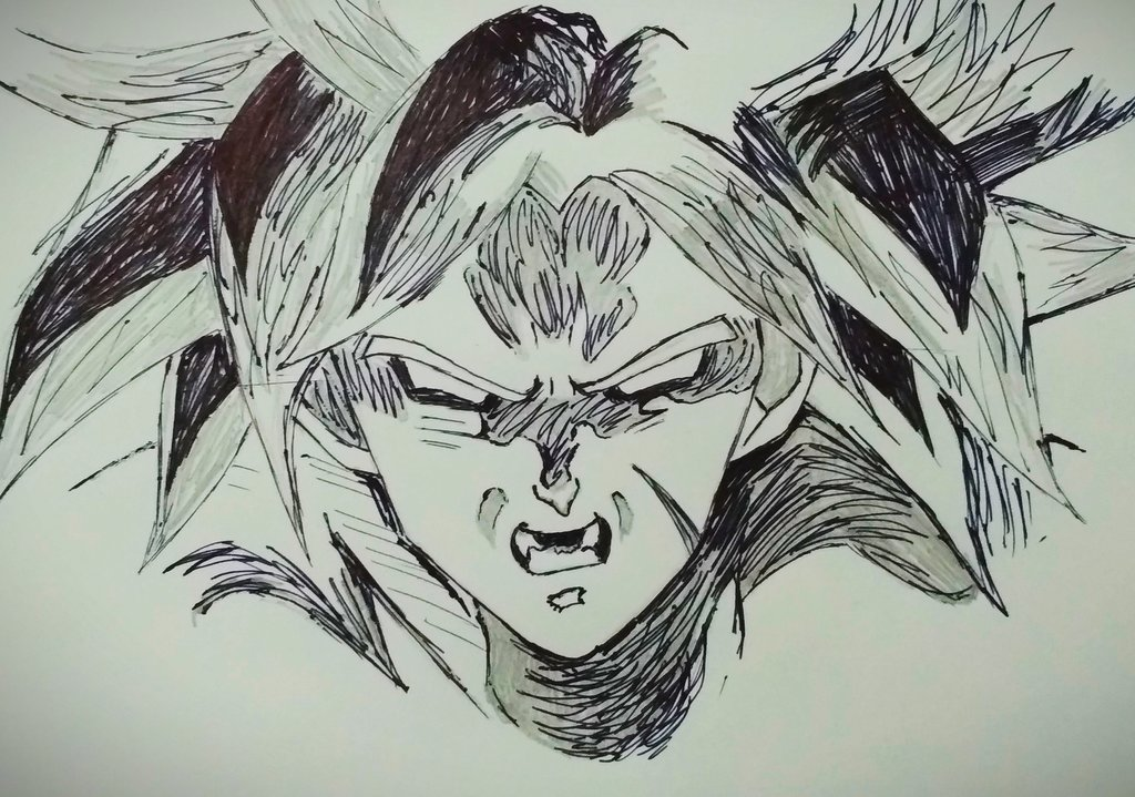 Sketch attempt of Broly..