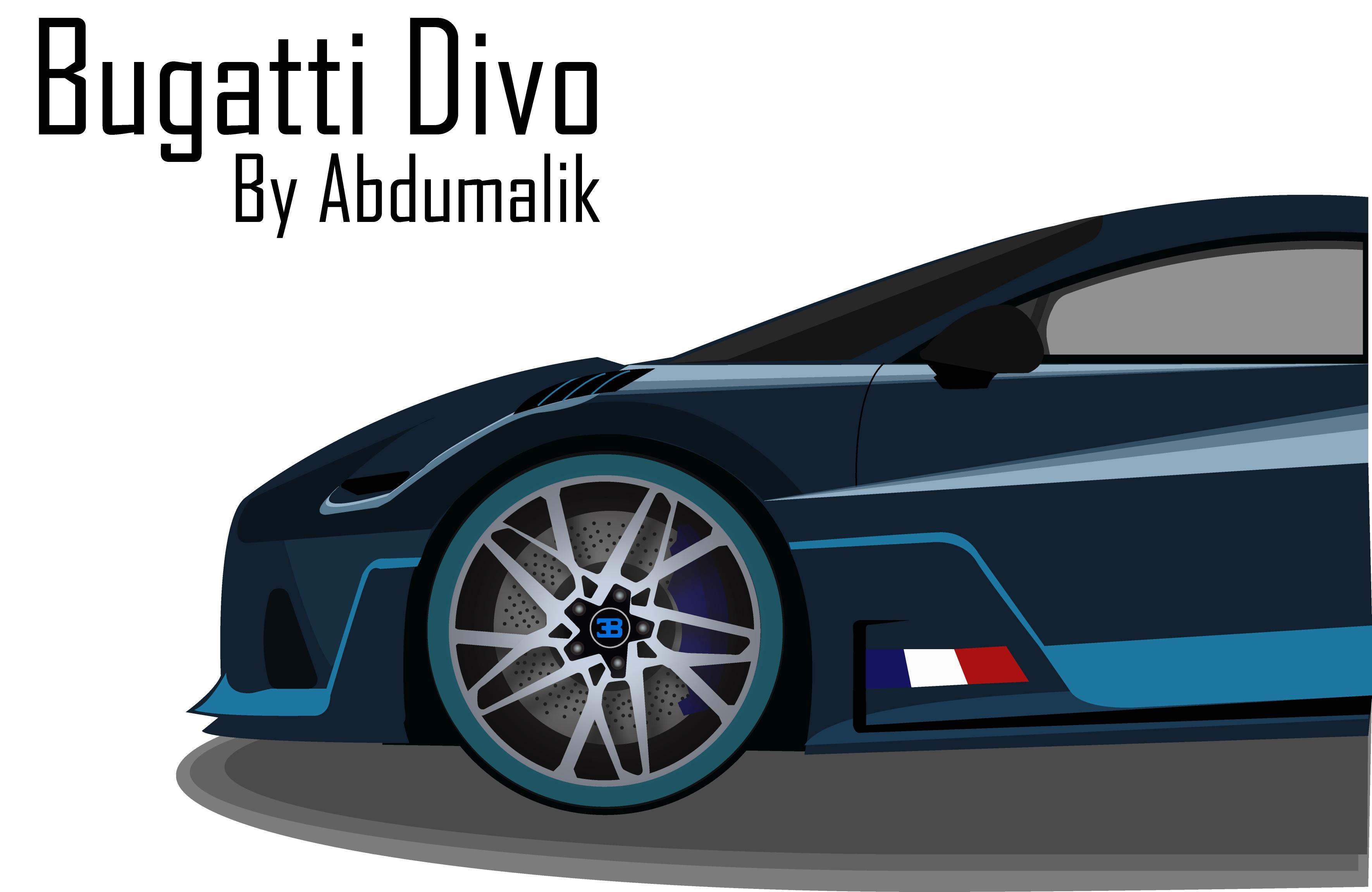 Bugatti Divo Vector Illustration By Abdumalik Ganijonov