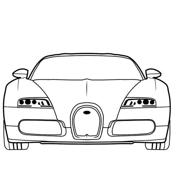 Bugatti Veyron in Vector Style