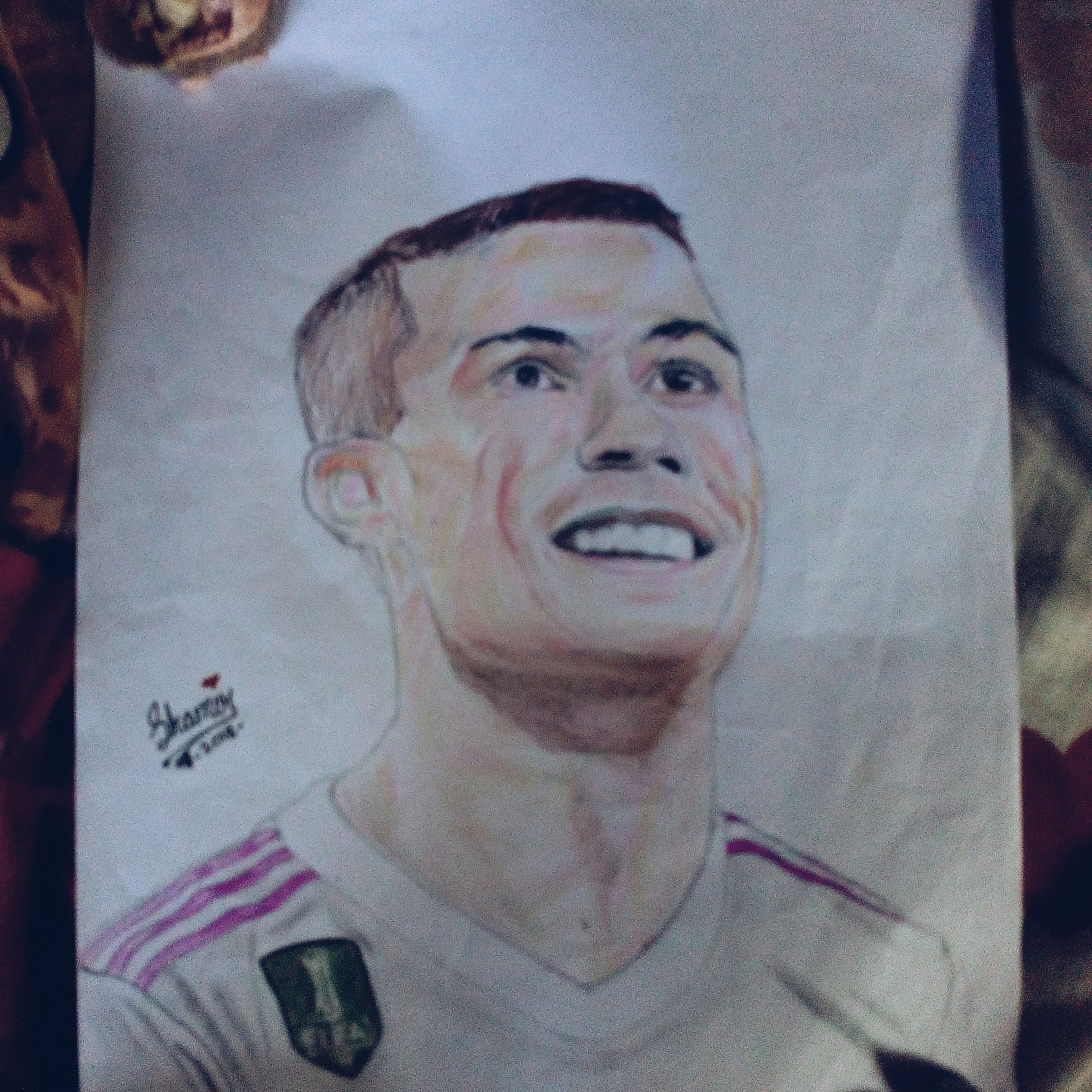 How to draw cr7