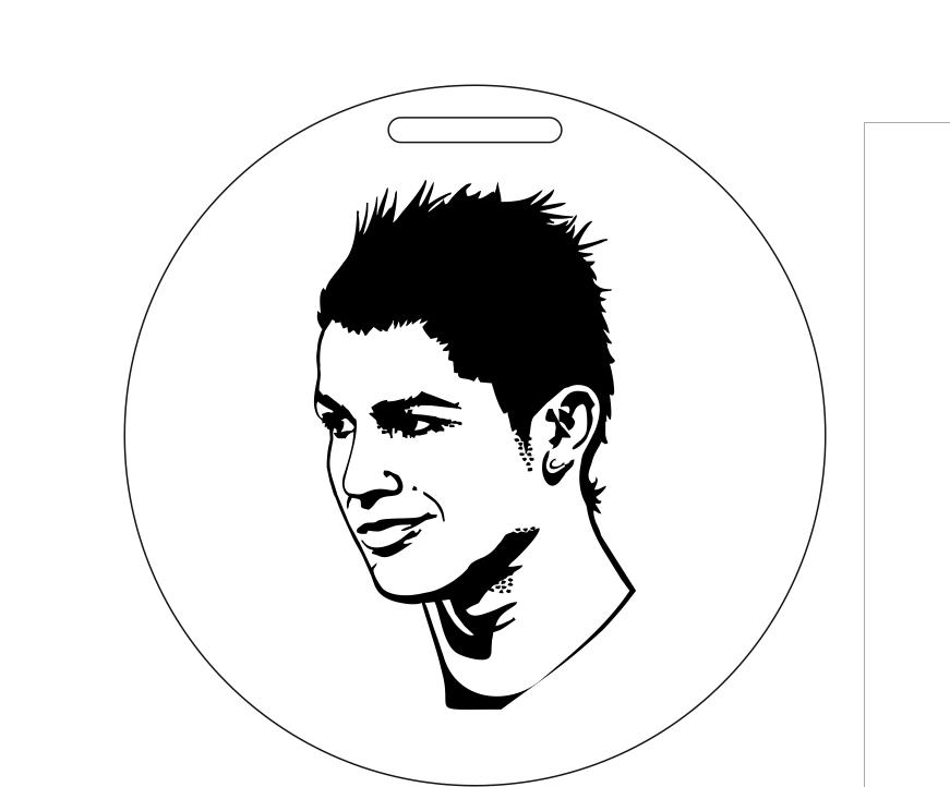 Cristiano Ronaldo silhouette art