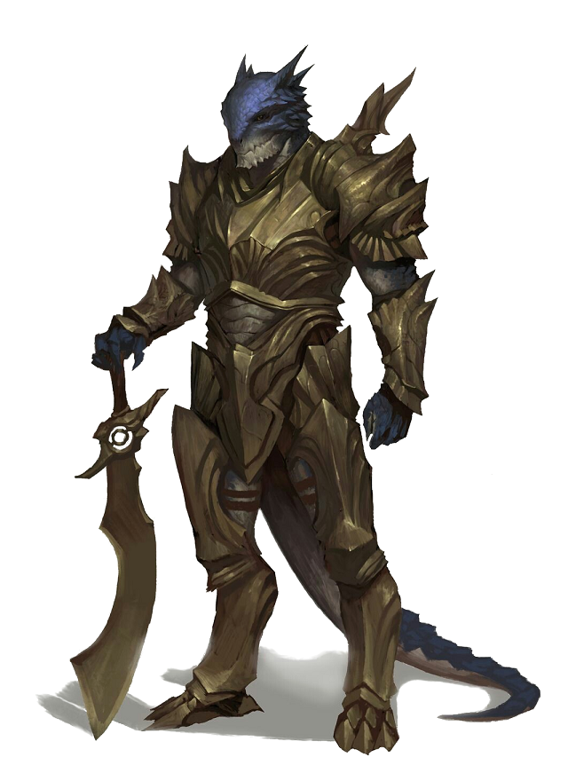 DnD Dragonborn warrior