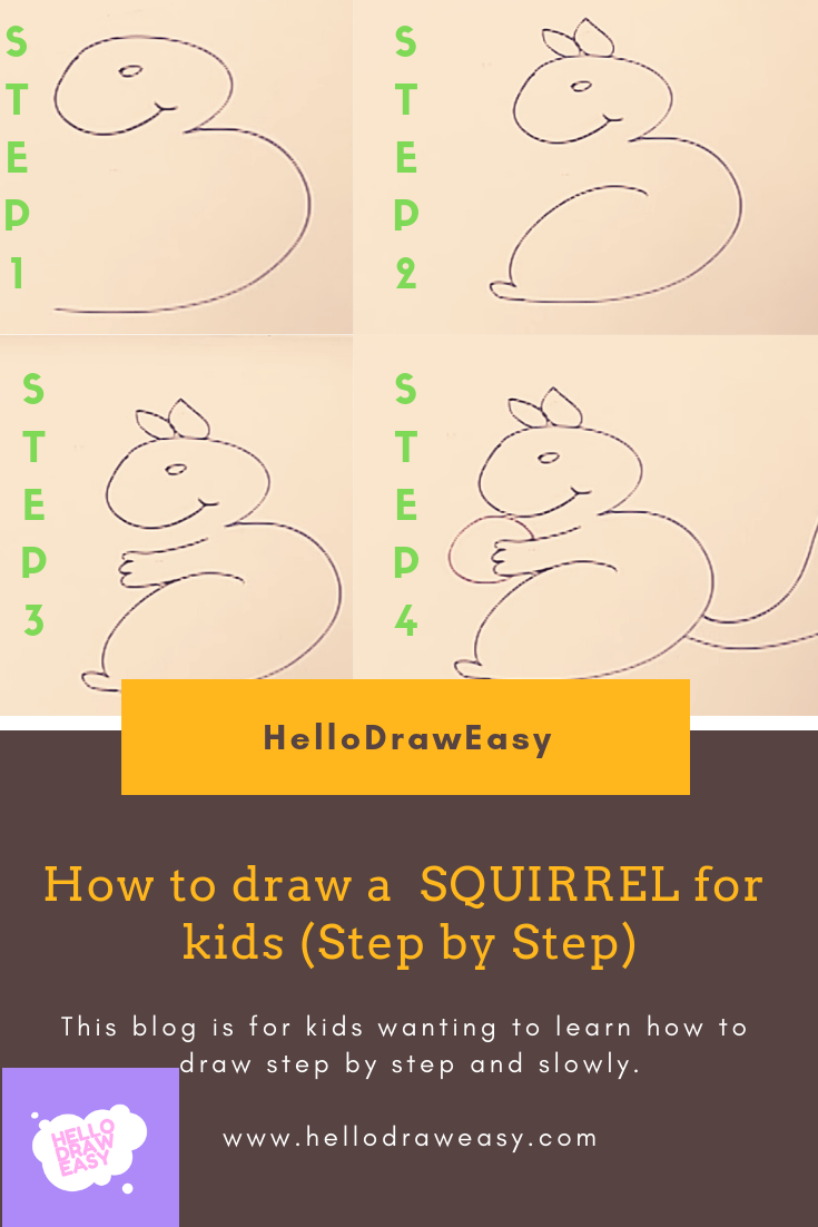 In this lesson , you will learn how to draw a squirrel for kids in easy way