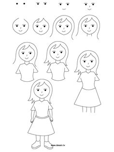Girl Line Drawing Tutorial
