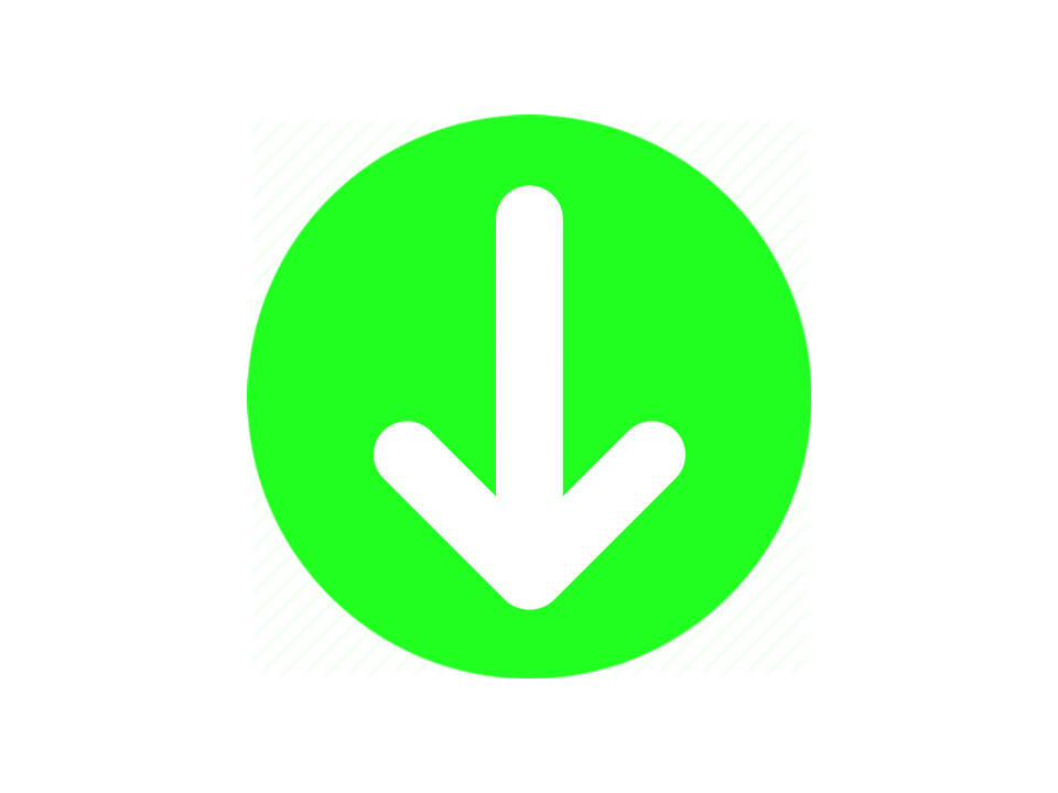 Green circle with downward white arrow