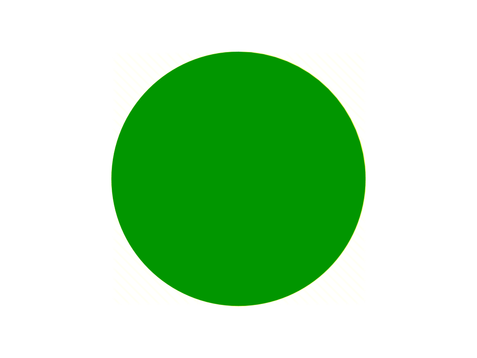 A round green disc.