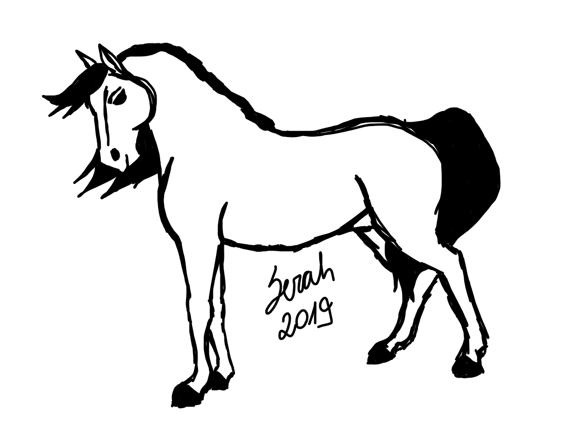 Horse Drawing Spirit