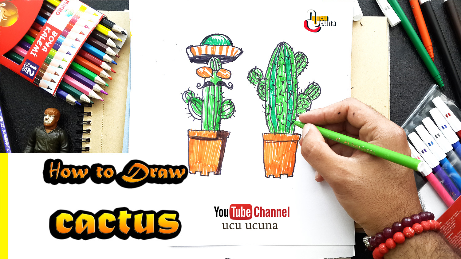 Hi everyone i ll be showing you how to draw cactus step by step let s learn draw plant for kids, art  important at my life. drow  with me,i hope you like funny videos  tutorial