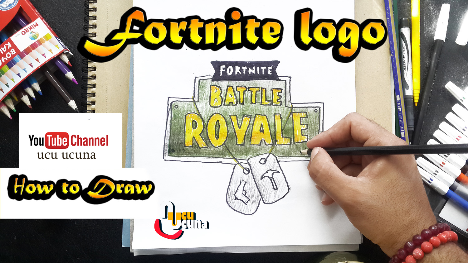 How to draw drift tutorial youtube channel name is ucu ucuna learn how to draw fortnite logo  fortnite step by step beginner drawing tutorial logo from fortnite
