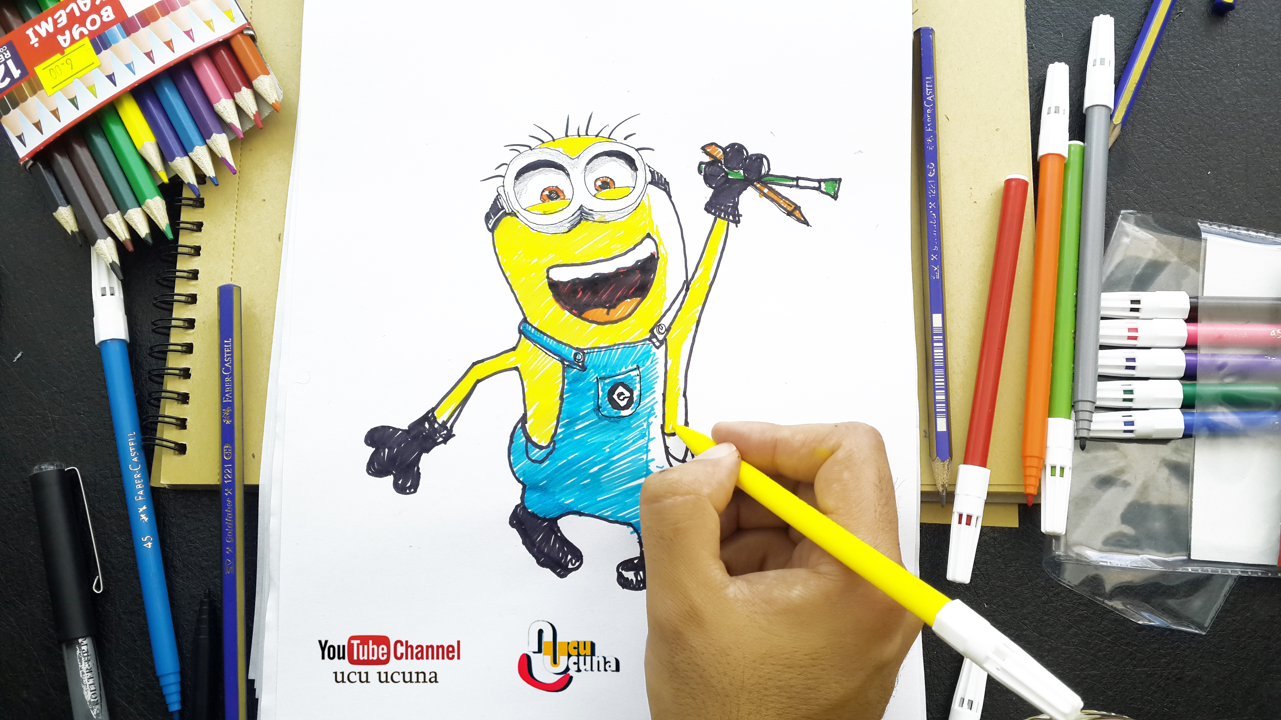Hi everyone i ll be showing you how to draw minion step by step step by step Let s learn draw for  kids  art  important at my life  drow  with me i hope you like funny videos  tutorial if you like my draw you click my youtube channel ucu ucuna
