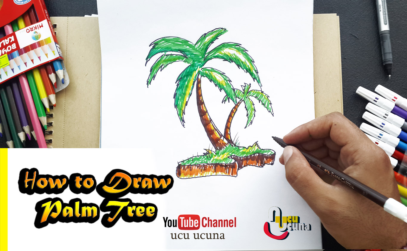 How To Draw Palm Tree