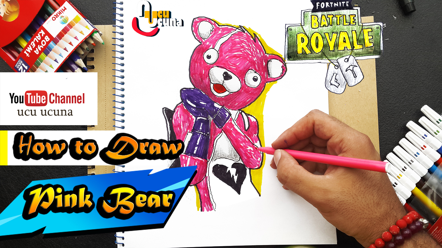 How To Draw Pink Bear Fortnite