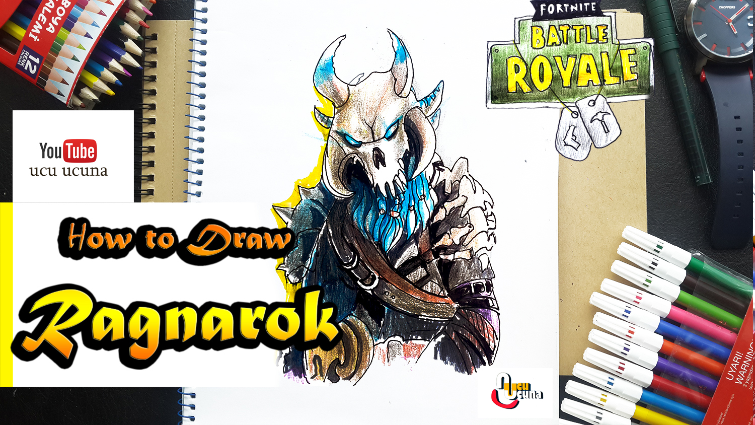 How to draw drift tutorial youtube channel name is ucu ucuna learn how to draw ragnarok fully upragaded from fortnite step by step beginner drawing tutorial of the ragnarok skin from fortnite